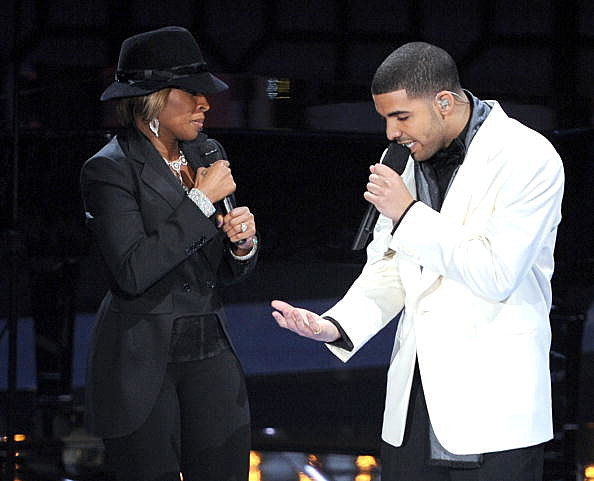 Mary J Blige, Drake, The One, Kevin Winter Getty Images