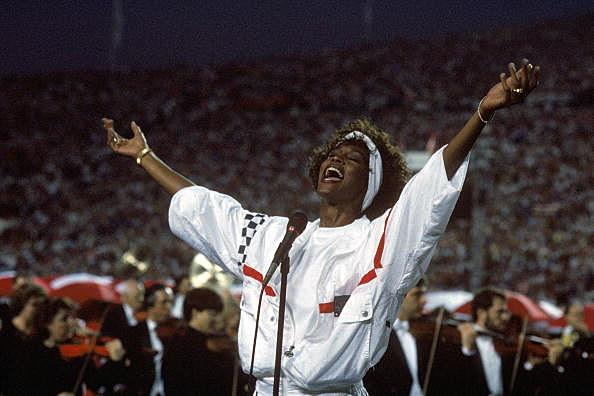 Whitney Houston at Super Bowl 25