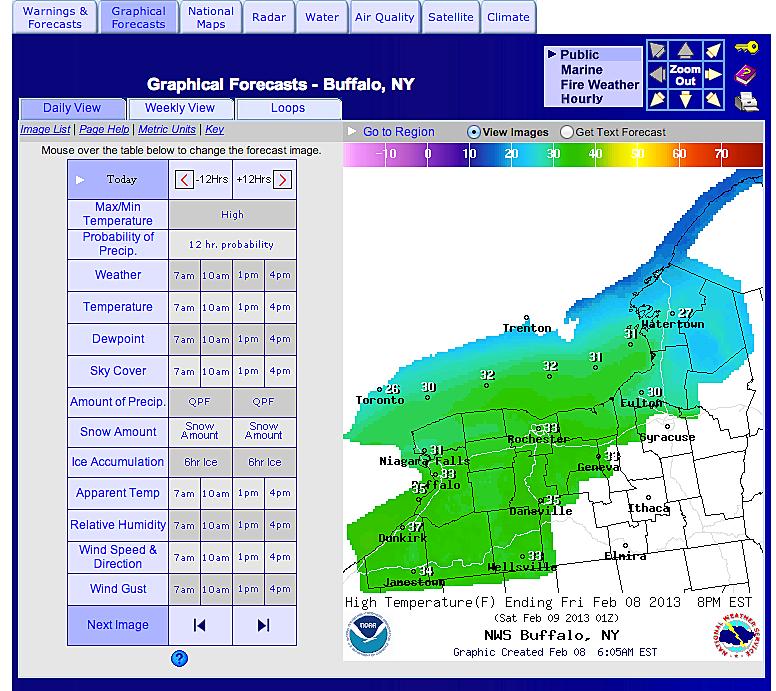 Buffalo Storm Map