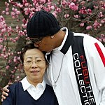Hines Ward with his Mom