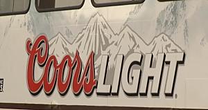 Coors Light Ad on NFTA Train