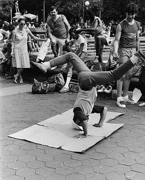 Breakdancing In Washington Square Park
