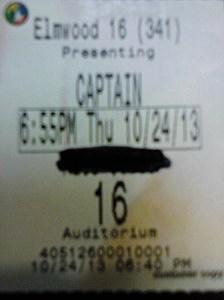Captain Phillips Ticket Stubs
