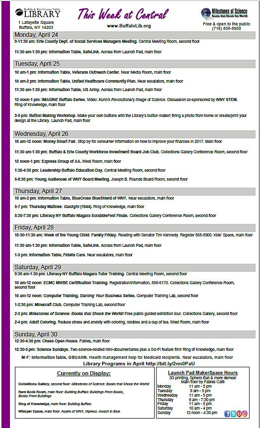 library week of 24-28