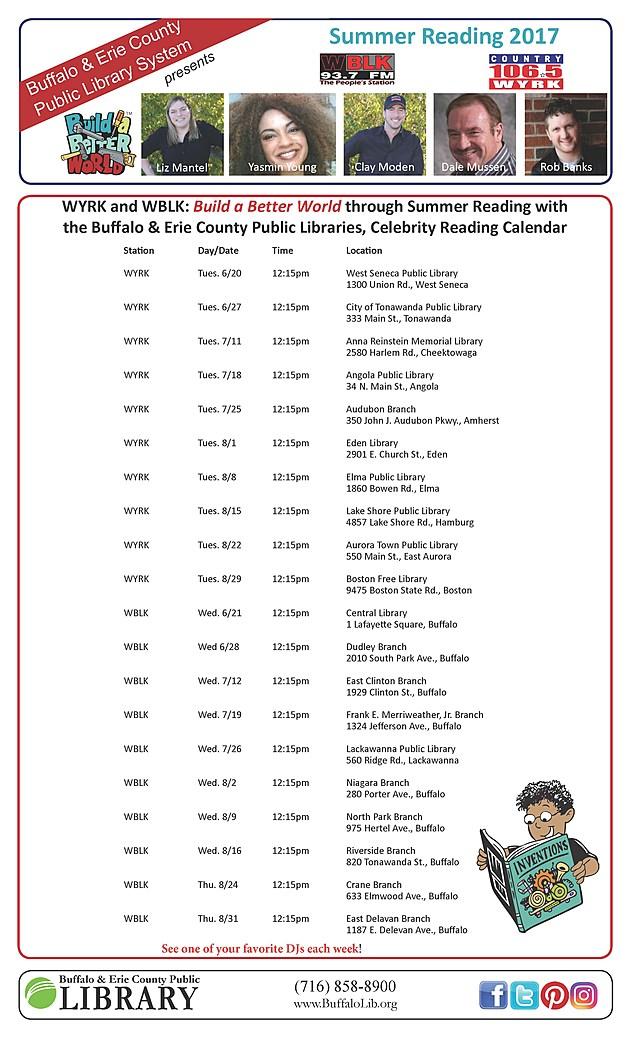 Radio Reader schedule with pics