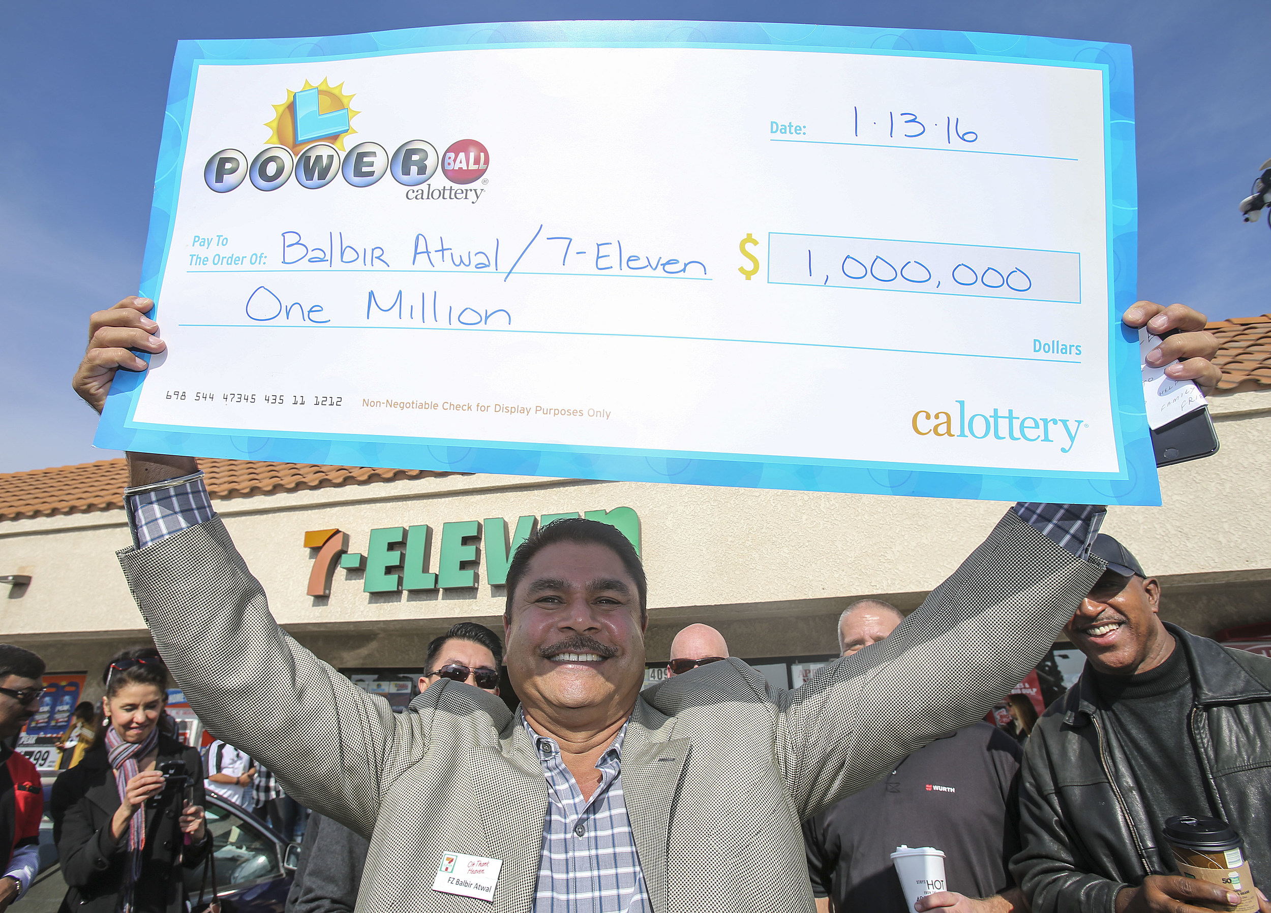 California lottery winners names photos